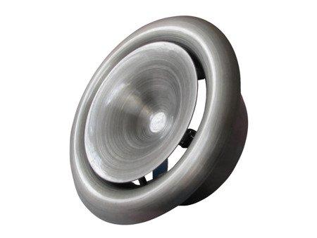 Anemostat metalowy nawiewny Ø125